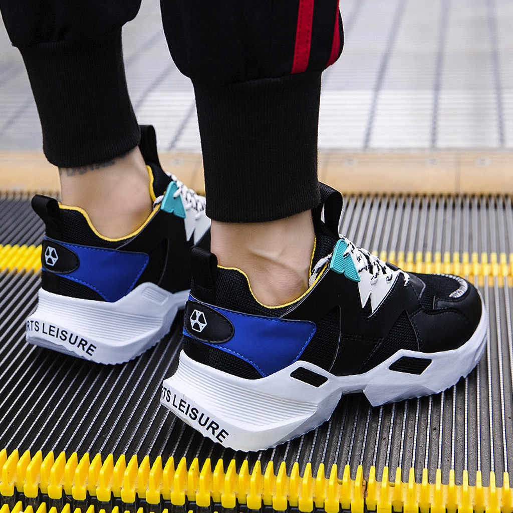 NEUE 2020 männer Atmungsaktive Lace-Up Casual Schuhe Farbe Passenden Non-Slip Trend Turnschuhe Dropshipping chaussure homme