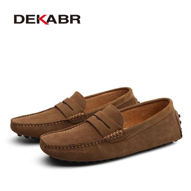 DEKABR Large Size 50 Men Loafers Soft Moccasins High Quality Spring Autumn Genuine Leather Shoes Men Warm Flats Driving Shoes Uncategorized Fashion & Designs Men's Fashion