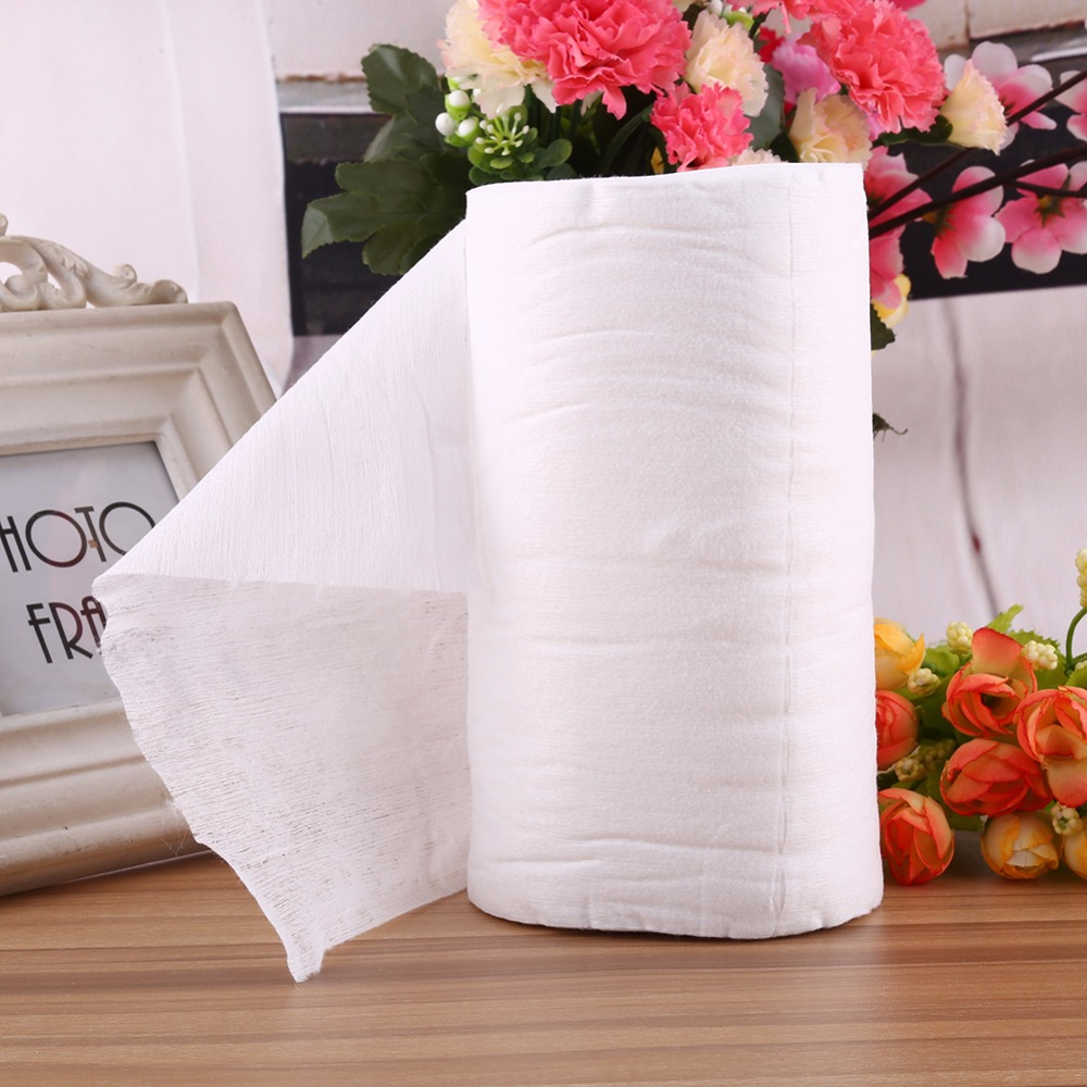 100PCS/Roll Disposable Cloth Baby Nappy Liner Covers Soft Diaper Pad Insert Diaper Pad Soft White Cotton