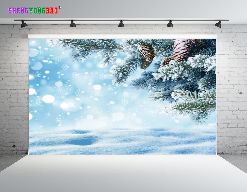 SHENGYONGBAO Art Cloth Custom Photography Backdrops Photo Studio Props Winter theme Photography Background SZ 25 in Background from Consumer Electronics
