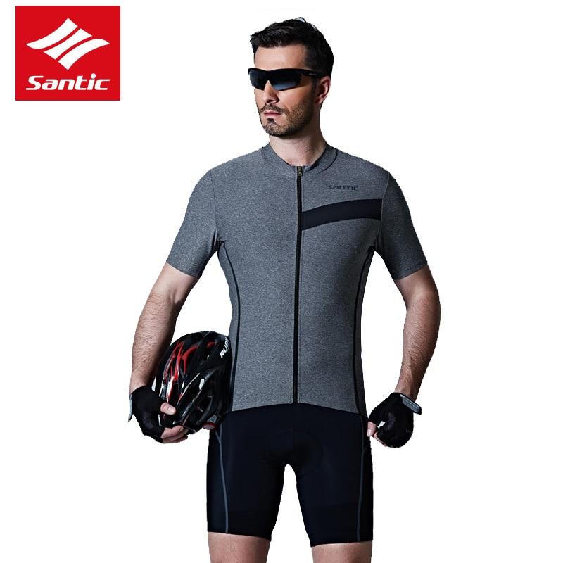 Santic Men Cycling Jersey Set Pro Team Tour de France Bike Jersey Set Summer Short Sleeve Cycling Clothing Maillot Ciclismo santic cycling jersey 2017 new men pro team mtb road bike jersey light
