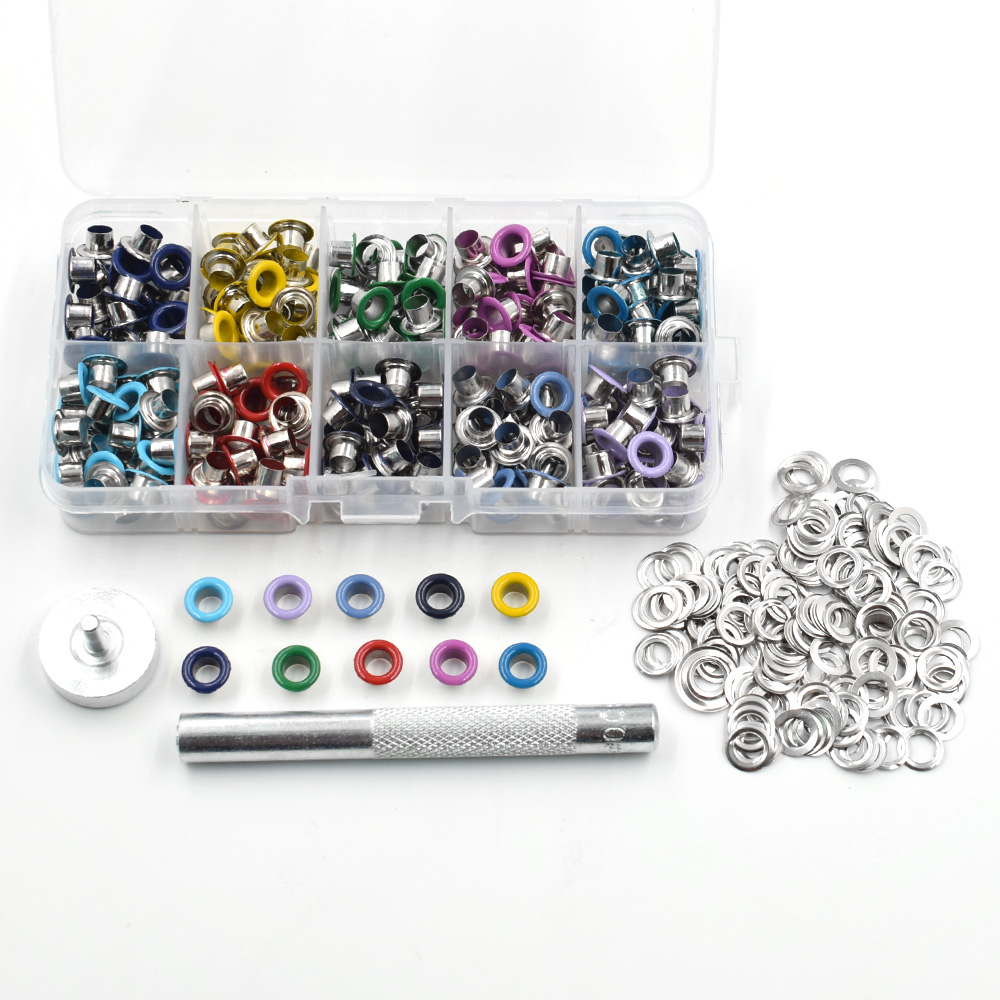 ALI shop ...  ... 32822473186 ... 1 ... Eyelets DIY materials color spray gas Rivets Color buttonholes Multicolor buckle Shoelaces eye Metal hole Eyelet tool ...