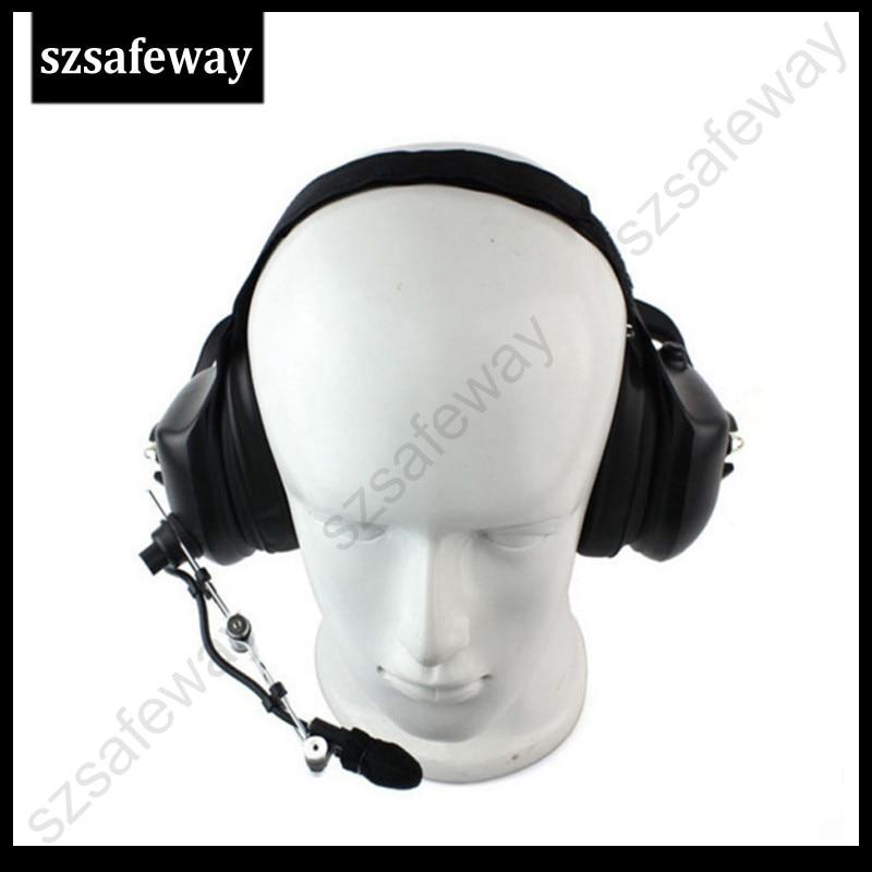 Heavey duty walkie talkie noise cancelling headset for ICOM IC V80 IC V85 IC F3 F4
