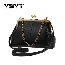 YBYT brand 2017 new chains shell fashion handbags hotsale women clutch satchel girl joker pack shoulder messenger crossbody bags