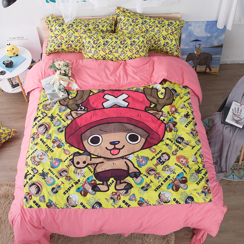 Kids Bedroom Furniture For Boys Anime Bedroom Decor Older Boys Bedroom Wallpaper Bedroom Design Ideas Red: 3D Japan Cartoon Anime ONE PIECE Children's Boys Bedding