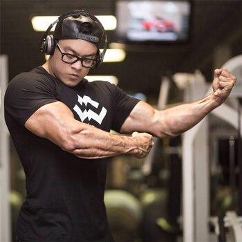 1664657e015cd6 Lato nowy projekt mężczyźni siłownie krótkie rękawy T shirt mięśni mężczyzn  Fitness kulturystyka moda męskie bawełniane ubrania marki Tee topy