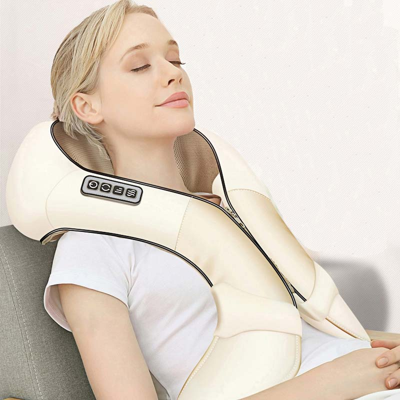 Massager Electrical Infrared Heated Kneading Wearable Home Massager Neck Back Shoulder Body Massage CCP018 kneading back and buttock massage home