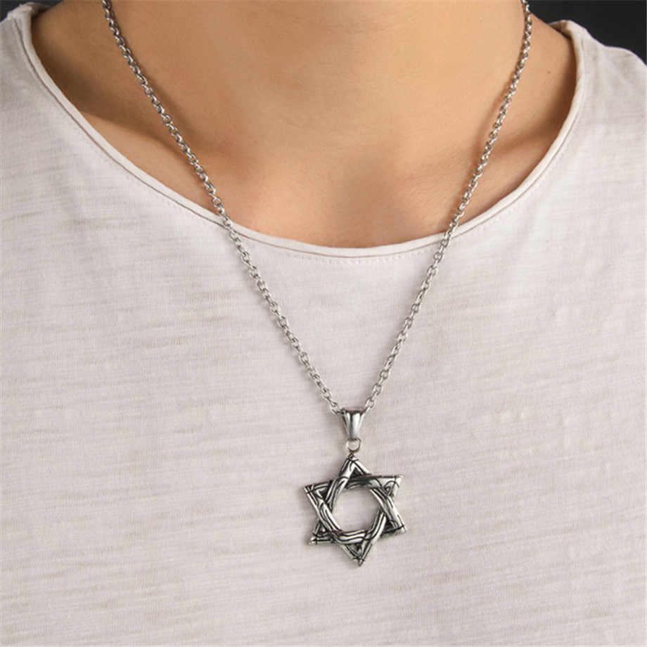 כוכב מגן דוד תליון ישראל שרשרת שרשרת נשים נירוסטה יודאיקה זהב כסף צבע יהודית גברים תכשיטים