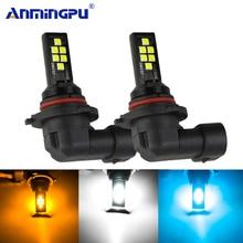 Anmingpu 2x Car Fog Lamp H9 H8 Led H11 H3 H1 H7 9005 HB3 9006 HB4 Canbus 2000LM Light Bulb 3000K 6000K 8000K