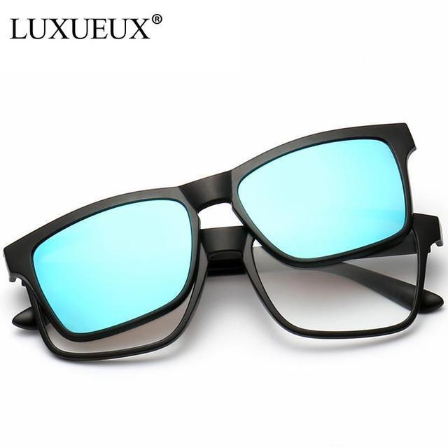 f15d0e3a250 2016 New Plain Glasses Frame Fashion Trend Eyeglasses Frame Clip On Mirror  Sunglasses Women Men Polarized Oculos Feminino-in Sunglasses from Women s  ...