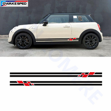 Автомобильная боковая юбка наклейка Гоночный флаг графическая наклейка авто боди для MINI Cooper Countryman Clubman Paceman R56 R60 R61 F54 F55 F56