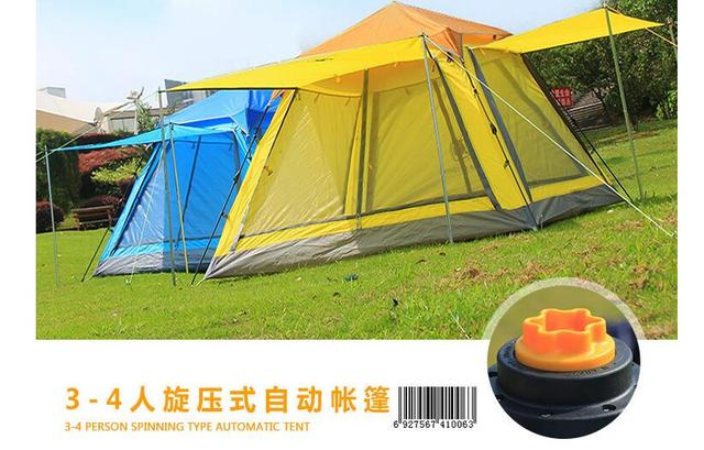 PU3000 Waterproof 3-4 persons spinning type Automatic Tents Portable Multi-gate Durable C&ing & PU3000 Waterproof 3 4 persons spinning type Automatic Tents ...