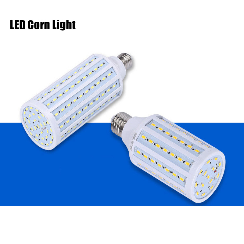 LED Light Bulb E27 E14 B22 5W 10W 15W SMD 5730 High Bright Corn Light Lamp Bulb Pure White Warm White Lighting AC220V
