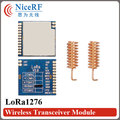 2 unids 4 km gama Lora TM100mW SX1276 LoRa1276 SPI interfaz Sensibilidad-139 dBm 868 MHz rf larga distancia transmisor y el receptor