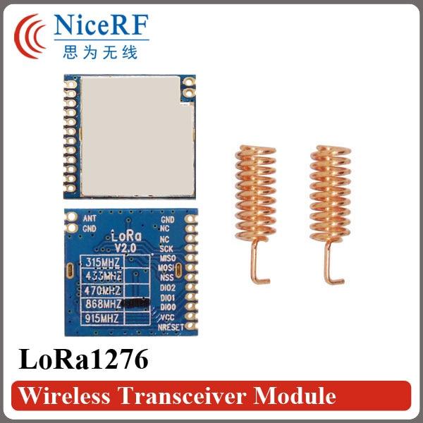 2PCS LoRa1276 LoraTM 20dBm 100mW SX1276 SPI Interface -139dBm Sensitivity 4KM Long Distance 868MHz RF Transmitter And Receiver