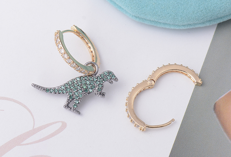 CZ Dinosaur Stud Earrings