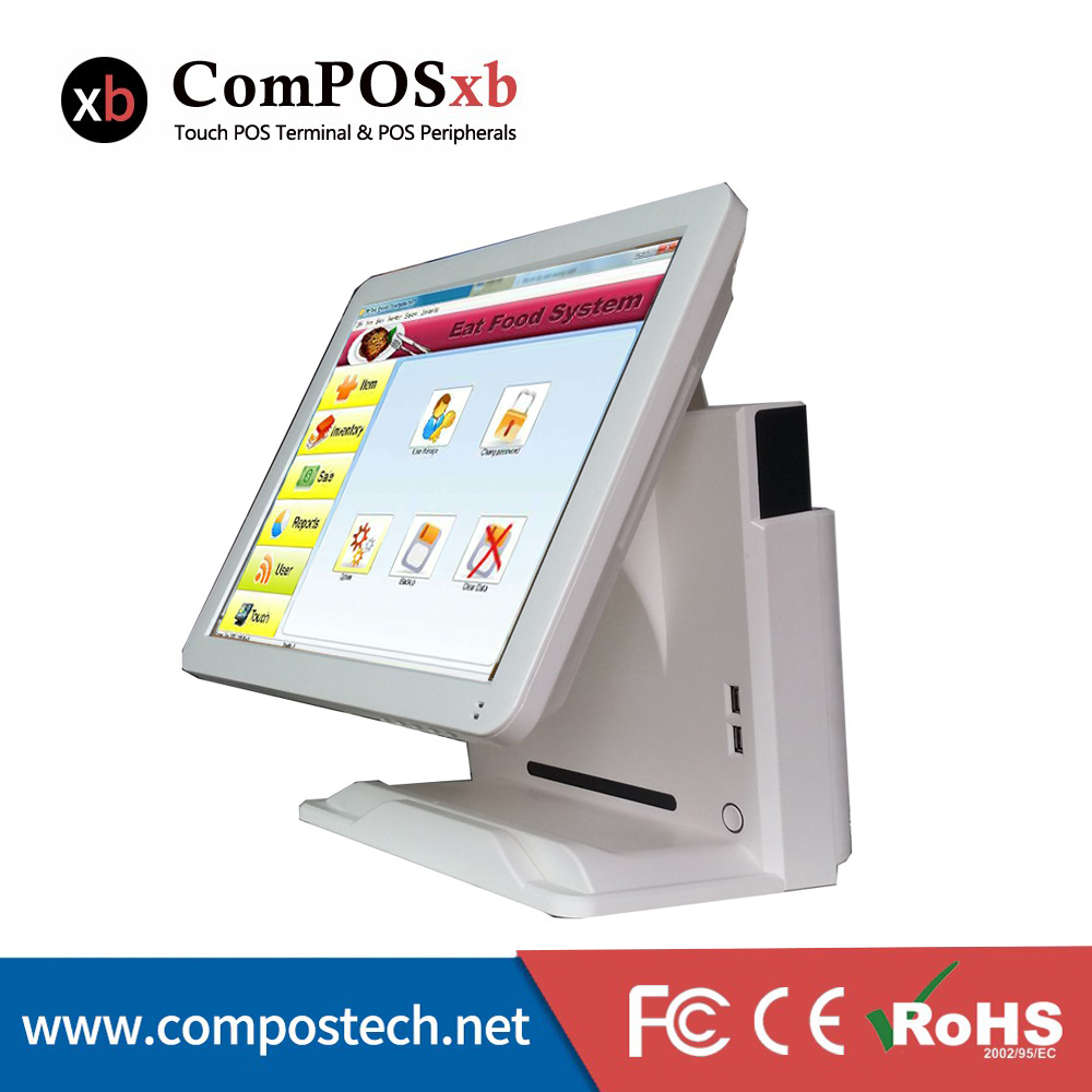 Free Shipping 15 inch Epos Cashier Register System pos system all in one For restaurant Retail Shop 2PCS free shipping 15 touch screen all in one pos system cash register cashier pos machine