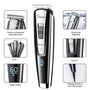Image 3 - All in 1 professional hair trimmer waterproof hair clipper beard trimmer man electric hair cutting machine set for Facial,body
