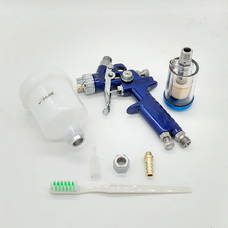 Image 4 - YOHUIE Upgraded version H 2000 HVLP Spray Gun 0.8mm/1.0mm Nozzle Mini Air Paint Spray Guns Airbrush For Painting Car Aerograph-in Spray Guns from Tools on