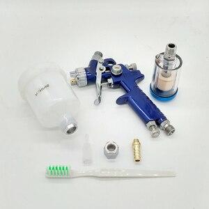 Image 4 - YOHUIE Upgraded version H 2000 HVLP Spray Gun 0.8mm/1.0mm Nozzle Mini Air Paint Spray Guns Airbrush For Painting Car Aerograph