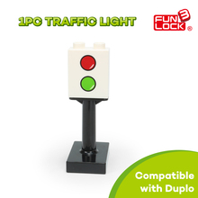 Funlock Duplo Blocks Train Transportation Scene Traffic Light Kid Toys Games