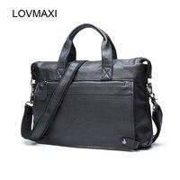 2016 Man Causal Briefcases Male Vintage Cow Leather Laptop Bags Business Messenger Bags Shoulder Men S