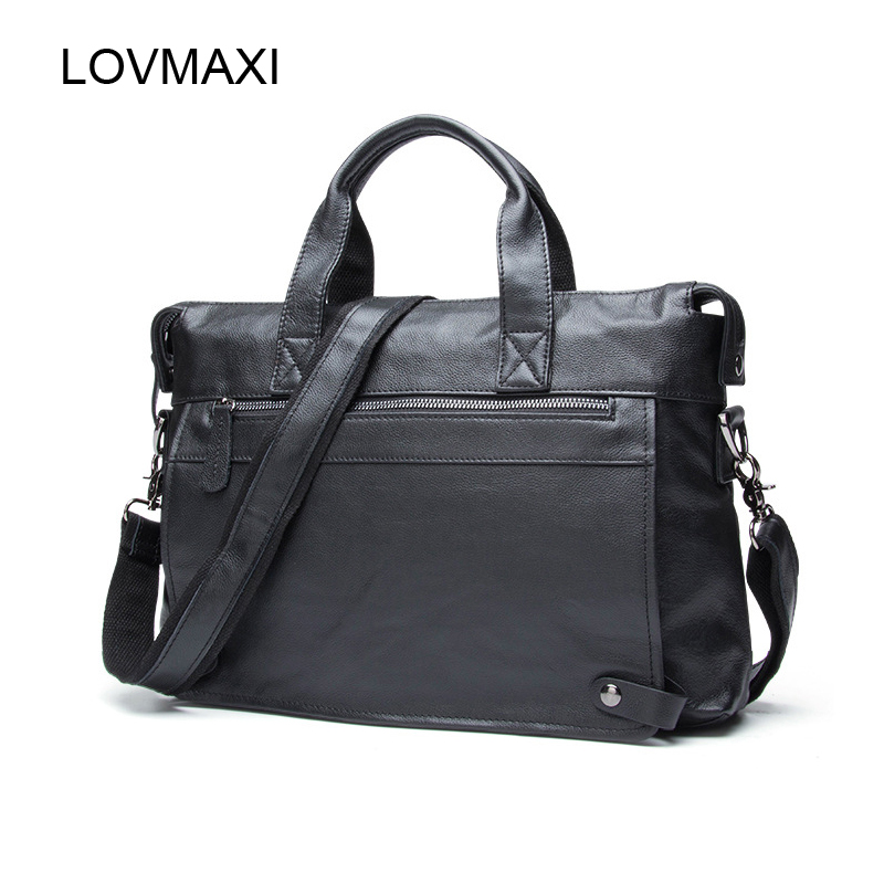 LOVMAXI Ανδρική τσάντα από δέρμα πραγματικού δέρματος Επιχειρηματικές τσάντες ανδρών Τσάντες crossbody Τσάντες μεταφοράς φορητού υπολογιστή Tote τσάντες τσαντών τσαντών τσαντών ώμων Ανδρική τσάντα Messenger