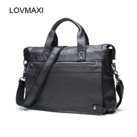 2016 Man Causal Briefcases Male Vintage Cow Leather Laptop Bags Business Messenger Bags Shoulder Men S