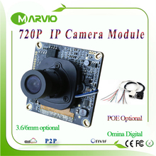 1MP 720P HD CCTV IP Network Cameras modules boards, DIY Video Surveillance System With IRcut filter, IP cam module Onvif