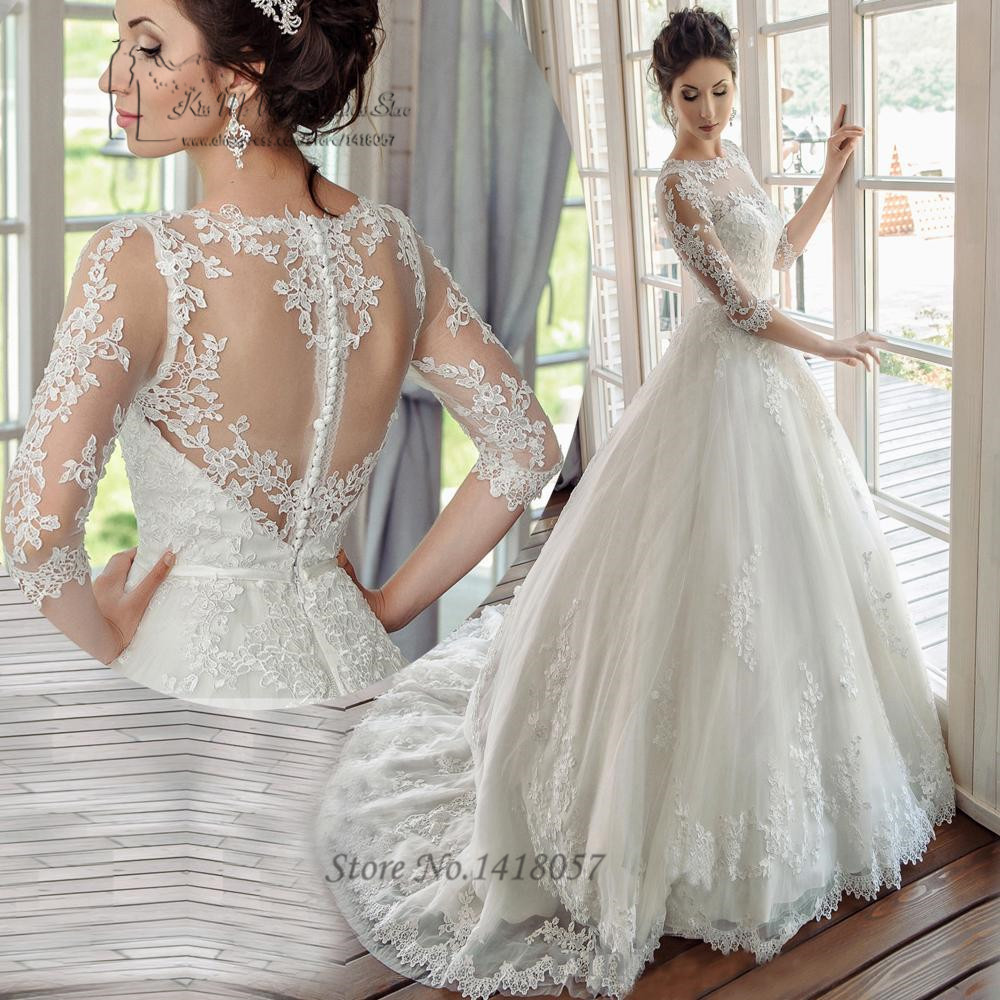 Korean Wedding Dresses Turkey Vestidos de Noiva Princesa Lace ...