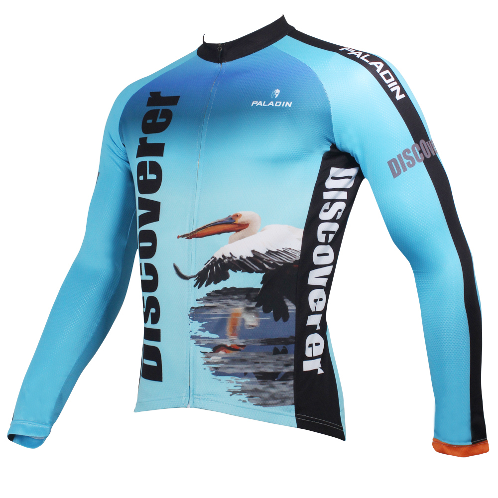 8551397aa Discover The world On the way Daigo Flamingo Men Long sleeve Cycling Jersey  Breathable Ciclismo Ropa Blue Cycling Clothes-in Cycling Jerseys from  Sports ...
