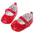 Fashion Baby Girls Red Black White Patent Pram Christening Shoes Cute Bow Buckle Fastening Toddler Shoes