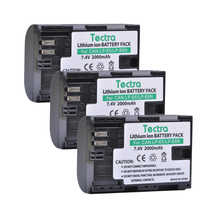 Tectra 3PCS LP-E6 LP-E6N LPE6 LPE6N Battery for Canon EOS 5D 5D2 5DS R Mark II 2 / III three 6D 60D / 60Da 7D 7D2 7DII 70D 80D and so forth.