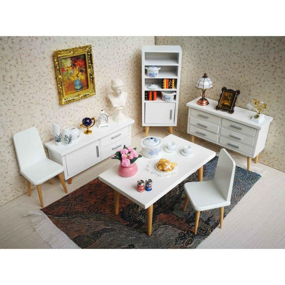 estilo gabinete mesa cadeira 6 pçs wd028a