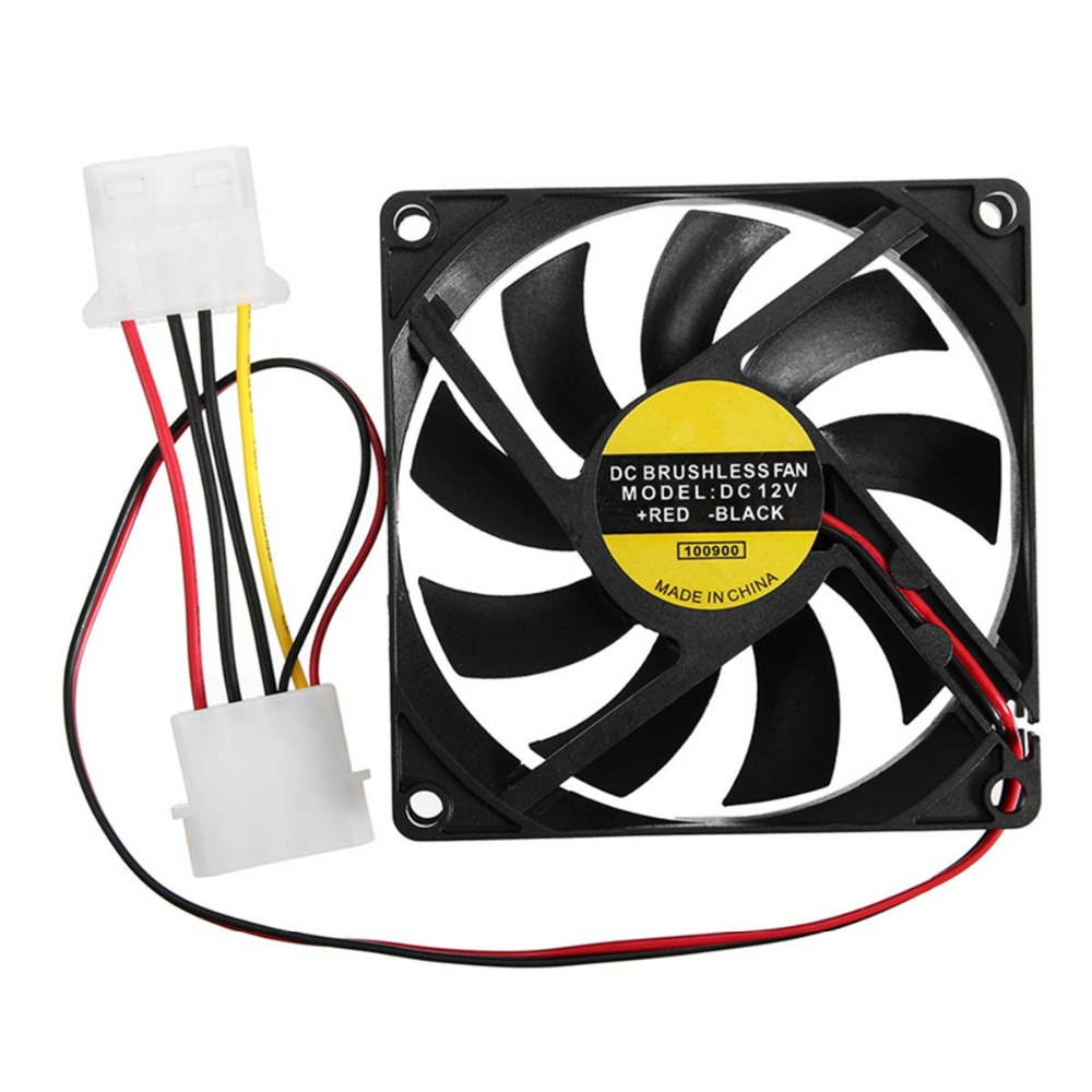 Hot Sale 1PC 9 Leaf 4 Pin 80mm*80mm*15mm CPU Cooler Fan DC 12V Cooler Case Fan Heatsink Cooling Radiator for Computer PC CPU 1 5u server cpu cooler computer radiator copper heatsink for intel 1366 1356 active cooling
