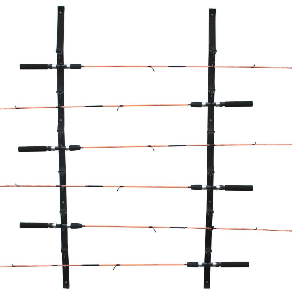 Ceiling Mount Pole Reel Holder Fishing Rod Rack Organizer Storage Cabin Garage