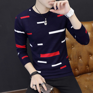 Image 2 - Autumn Winter Men Saweaters O Neck Long Sleeve Knitting Slim Fit Knittwear Mens Sweaters Pullovers Pullover Men Pull Homme