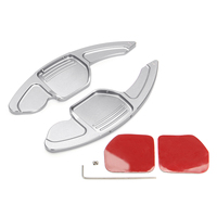 Car 1Set Aluminium Alloy Steering Wheel DSG Extension Paddle Shif Sticker Decoration For Audi A3 A8