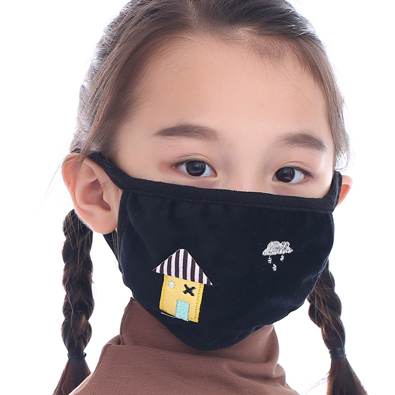 New Cartoon Kids Cotton Mask Anti-pollution Cute Children Mouth Mask Cycling Wearing Windproof Anti-Dust Face Masks