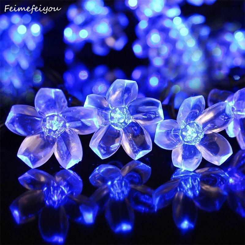 Daisy Solar String Lights: Feimefeiyou 4m 20led Solar Cherry Blossom String Lights