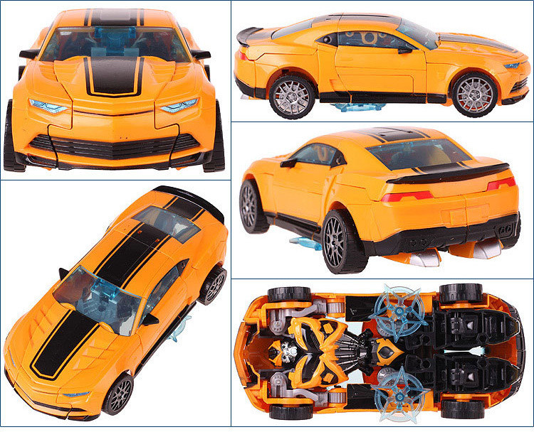 Cool Robot Car Transformation Toys Kids Bumblebee Toy Anime Transformation Robot Action Figure Mobel Christmas Gift For Children (6)