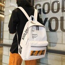 Letters Backpack Water Proof Oxford School Bag for Teenage Girls Preppy Style Fashion Leisure Or Travel Bag for Men Solid  Bag все цены
