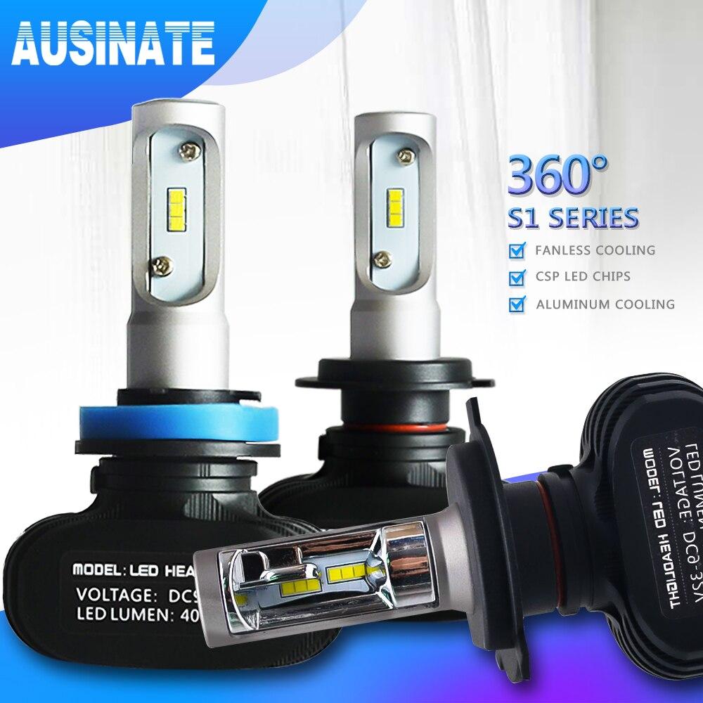 H7 LED H4 H1 H3 H8 H9 H11 9006 9005 Auto Auto Scheinwerfer Birne CSP Chip 50 W 8000LM Automobil scheinwerfer Nebel Licht 6500 K Led Lampe 12 V