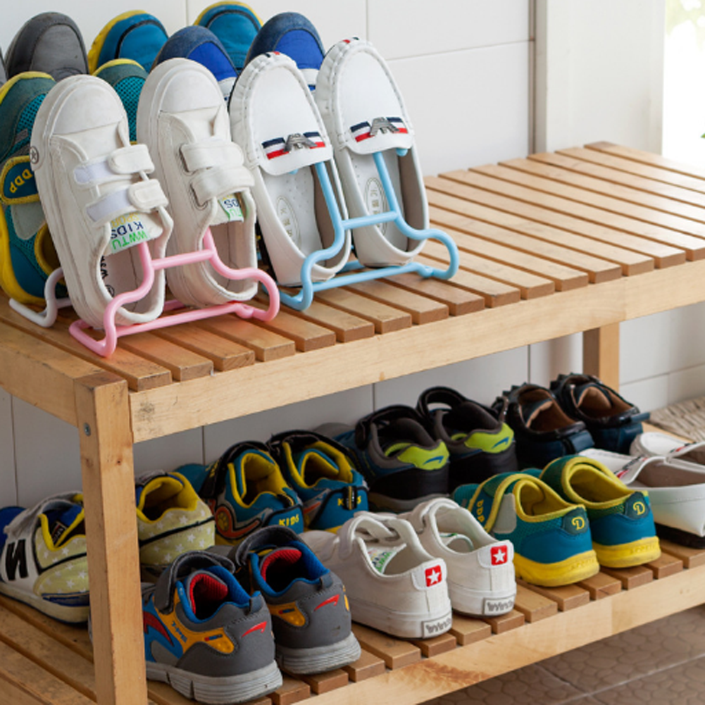 Shoe Floor Stand Hang Drying Racks Shoes Storage Holder Storage Box Children Standing Hang Shoe Hallway Rack