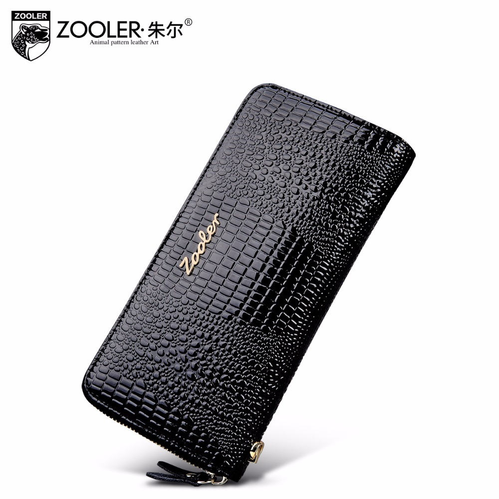 2017 ZOOLER factory wholesale women leather wallets cowhide purses lady mini-bag hot card holder zipper wallet luxury#8663