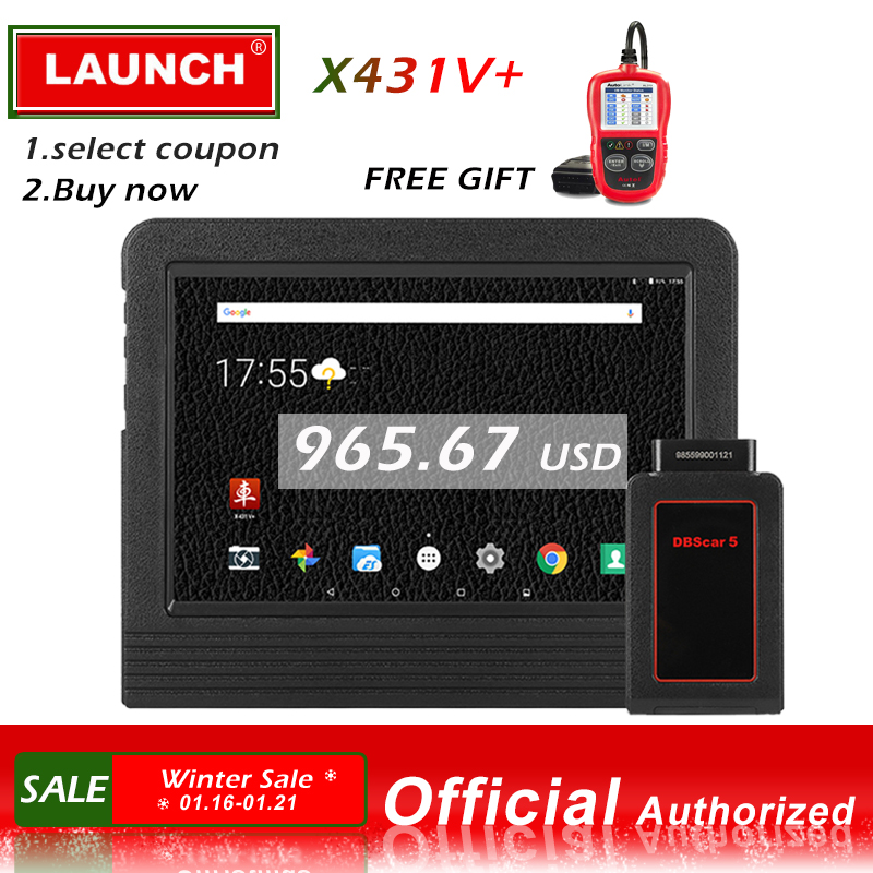 Lancement X431 V + Automobile Outil De Diagnostic Système Complet Diagnostic Scan Outils Scanner Auto scanner le Codage D'ECU lancement x431 v plus