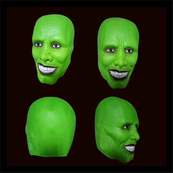 Hot Sale New Halloween Party Cosplay Details Loki latex mask Jim Carrey Costume Fancy Dress Famous Movie Film Props 'The Mask' image