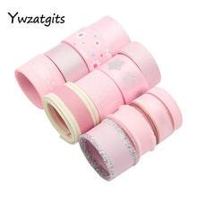 12 jardas 10-25mm rosa série gorgorão organza fitas de cetim para hairbows artesanato casamento headwear embrulho acessórios yt0308