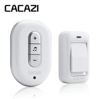 CACAZI Wireless DoorBell No Battery Need Waterproof Smart Door Bell Cordless 120M Remote AC 110V 220V