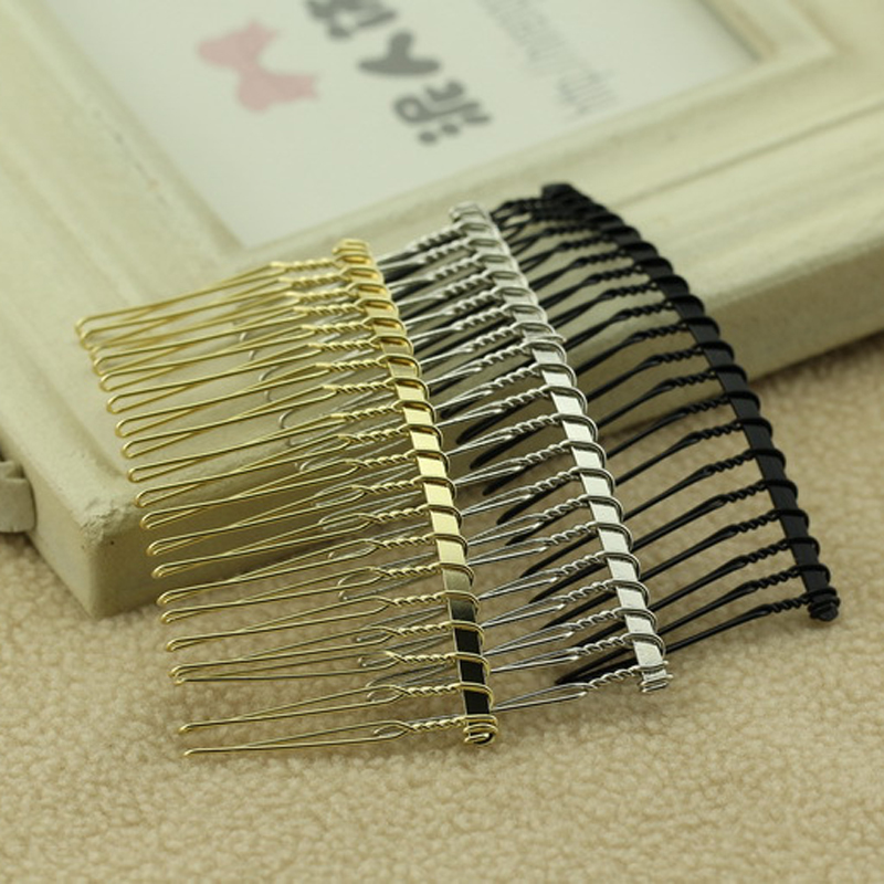 100 Pieces 20 Teeth Gold Silver Black Metal Hair Comb Clips For DIY Wedding Bride Headpiece Hair Jewelry Hair Accessories-in Hair Jewelry from Jewelry & Accessories on AliExpress - 11.11_Double 11_Singles' Day 1